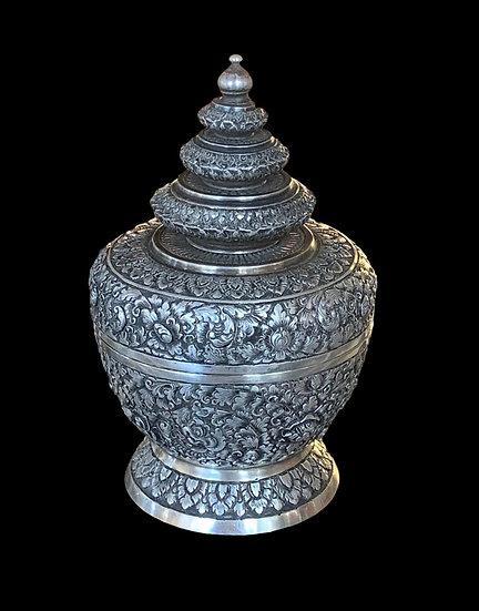 boîte en argent massif, Indochine, fin du XIXème siècle