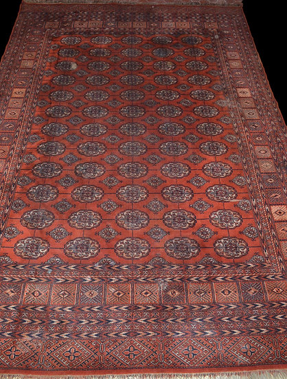 TAPIS BOUKHARA-TEKKE, Asie Centrale, 222 cm x 318 cm,  1950