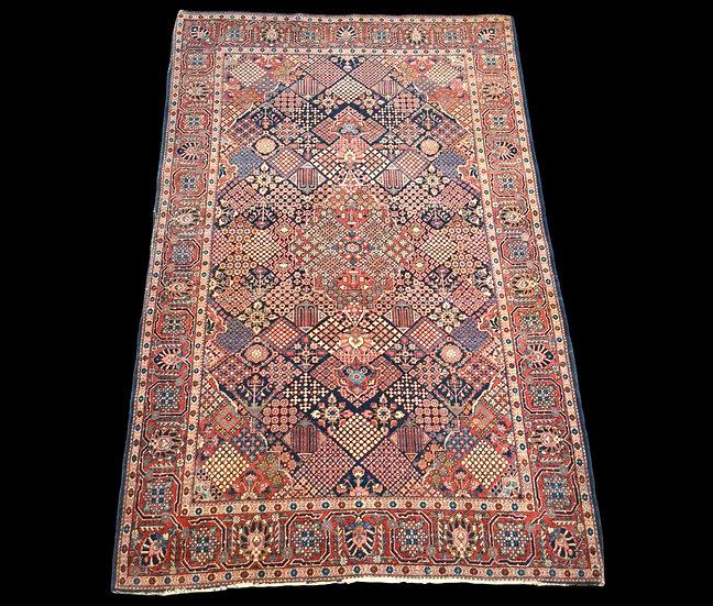 Tapis Persan Samam ancien, 132 cm x 200 cm, Laine et Soie, Iran