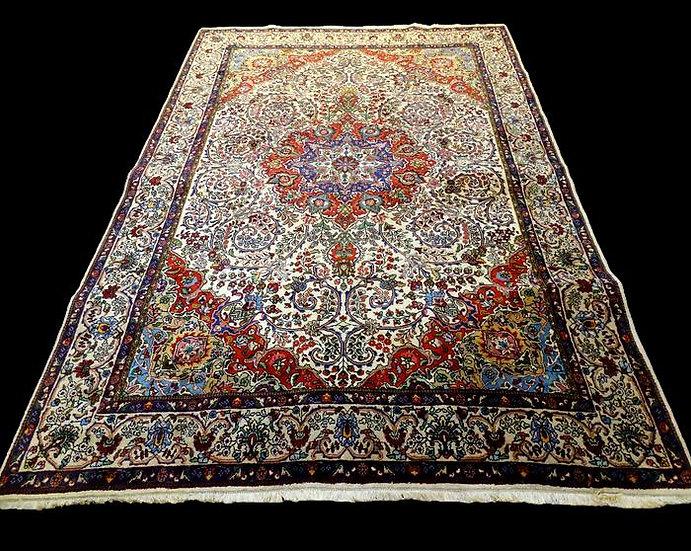 Tapis Persan Tabriz, 200 cm x 303 cm, Iran, laine nouée main vers 1980, très bon