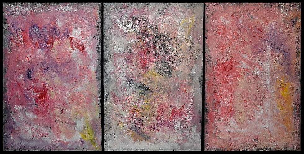 """Erwin STEINBACH """" La vie """" Triptyque, 3 x ( 115 x 75 cm ) 2020"""