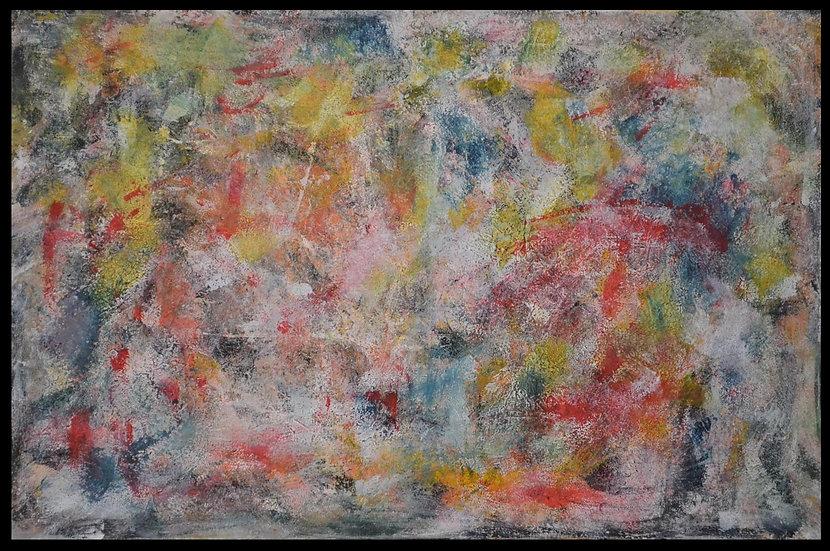 "Erwin STEINBACH "" Les poissons rouge "" 75 x 115 cm - Avril 2020"