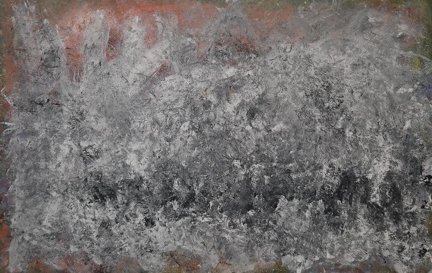 """Erwin STEINBACH """" Le Contadour sous la neige """" 75 cm x 115 cm"""