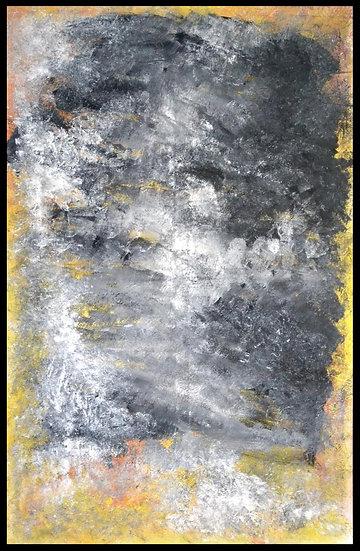 """Erwin STEINBACH """" Sans titre jaune """" Juin 2020, 115 x 75 cm"""