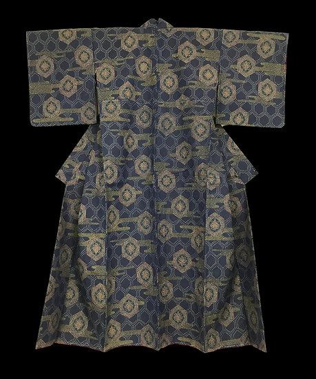 Kimono ancien en soie, signé,ère Showa, vers 1950, parfait état