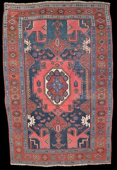 Tapis Kazak Lambalo, Caucase , daté de 1323 soit 1905, 125,5 cm x 194,5 cm
