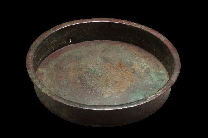 """Bassin en bronze persan Seldjoukide, XI / XIIIème siècle, Empire Perse"""