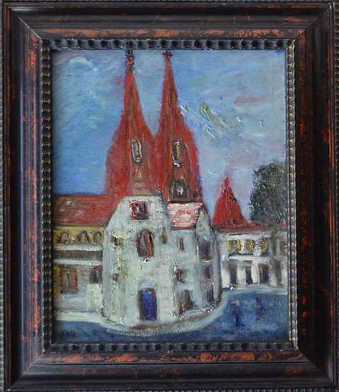 ONNES Harm Heinrich Kamerlingh (1893 - 1985) - La Rue - circa 1950