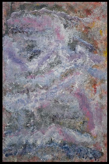 Erwin STEINBACH « Himalaya », technique mixte sur toile, 115 x 75 cm