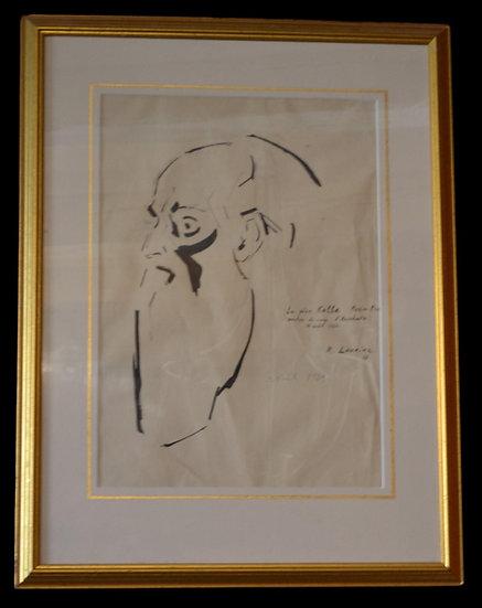 "LOUKINE Rostislas (1904-1989) -"" Portrait du Père Kolbe "" 1967"