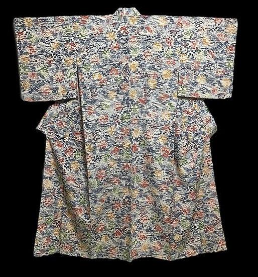 Kimono KOMON, en soie naturelle, Japon vers 1950, parfait état