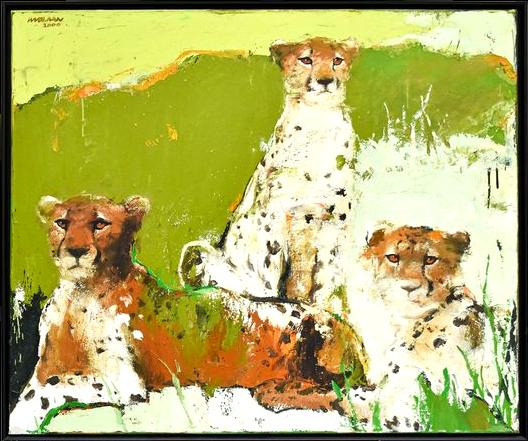 "Wil Van Der Laan, 1950 Roermonds, Pays Bas ""cheetahs"" 2000"