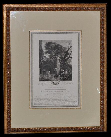 """PILEMENT, FILS,"""" Les Sbires """" , Gravure encadrée du XVIIIème siècle"""