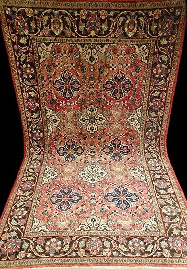 """""""Tapis Ispahan, Iran, 150 cm x 253 cm, Laine sur Coton Nouée Main, 1950,"""