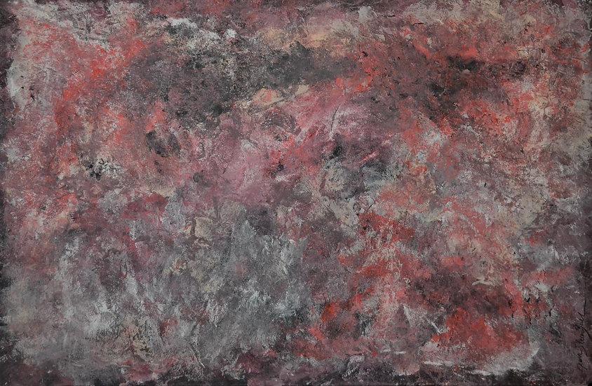 "Erwin STEINBACH "" Flamenco "" 75 x 125 cm, technique mixte"