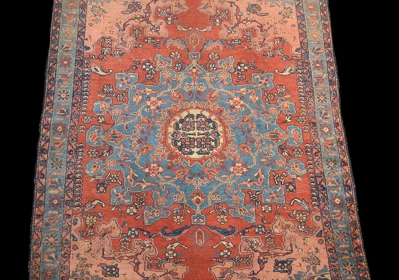 Tapis Persan Tafresh, 142 cm x 186 cm, laine et soie, Iran, XIXème siècle
