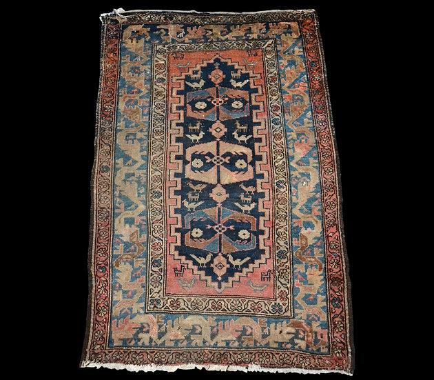 Tapis Chirvan ancien, Caucase, 115 cm x 176 cm, laine nouée main, XIXème siècle