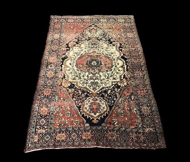 """""""Tapis Persan Farahan ancien, 130 cm x 194 cm, laine nouée main, XIXème siècle,"""