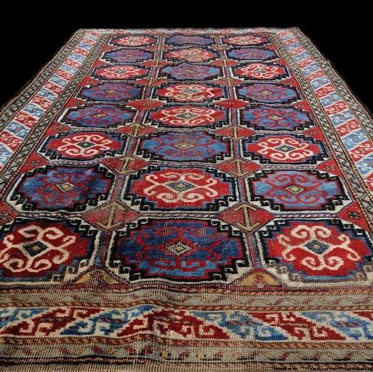 Tapis du Kurdistan, Iran, 120 cm x 203 cm, laine nouée main, tout début du XXème