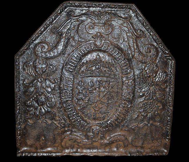 Plaque de cheminée dépoque  Renaissance du XVIème siècle