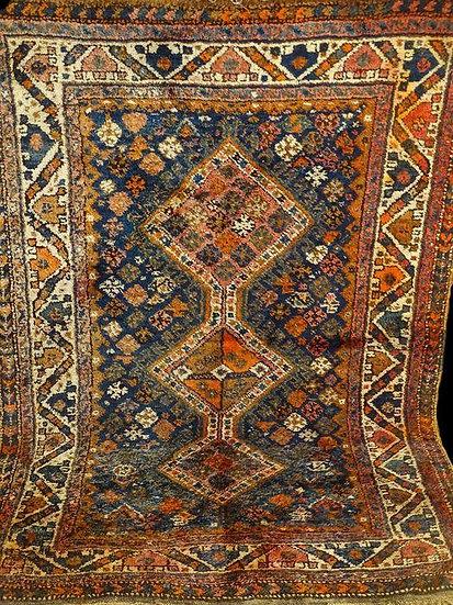 Tapis Gashghaï, Iran, Laine sur Laine, 115 cm x 165 cm, Début du XXème