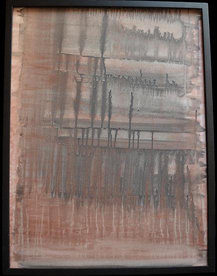"""Erwin STEINBACH,"""" l'étang """" technique mixte sur toile, 80 x 60 cm"""