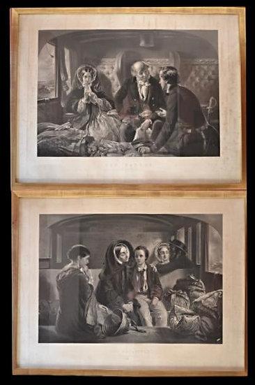 W. H. SIMMONS, paire de Gravures Anglaises,1857