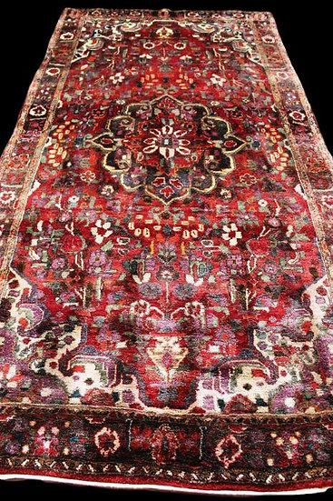 """Tapis Persan Sarough, Iran 158 cm x 314 cm, Laine Kork nouée main vers 1970"