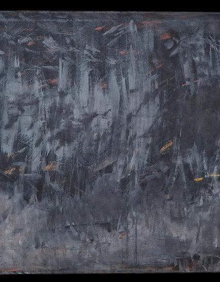 """Erwin STEINBACH """" lucioles """" 75 x 115, technique mixte sur toile, 2010"""