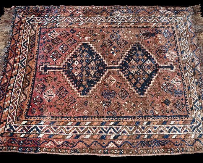 TAPIS CHIRVAN ANCIEN, Caucase, 112 Cm X 143 Cm, Vers 1930