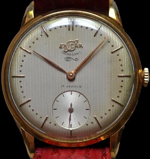Montre Bracelet Homme ENICAR plaqué Or vers 1960