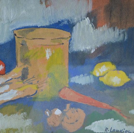 LOUKINE Rostislas (1904 -1989) - Nature Morte aux Poireaux - circa 1975