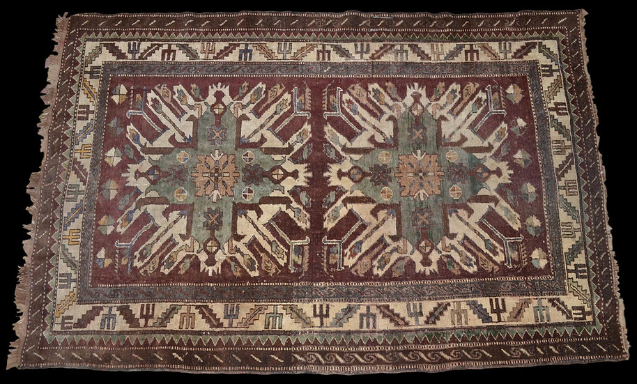 TAPIS CHELABERD, Caucase, 106 x 228 cm,région de Karabagh, seconde moitié du XIX