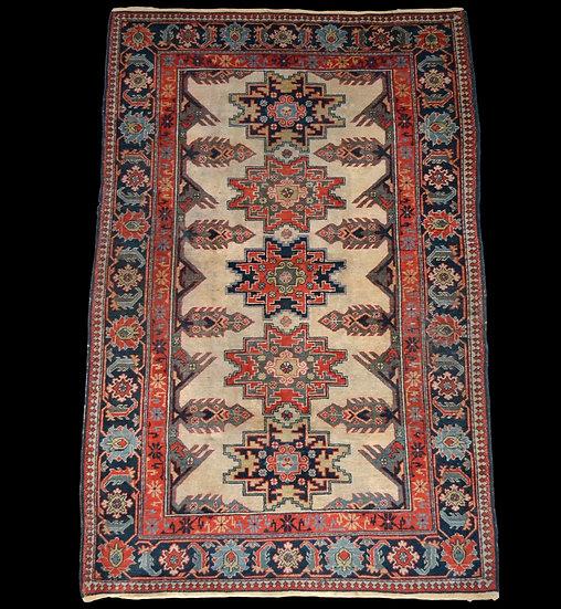 """""""Tapis Kouba, Daghestan, Caucase, 120 cm x 190 cm, laine nouée main, vers 1960,"""