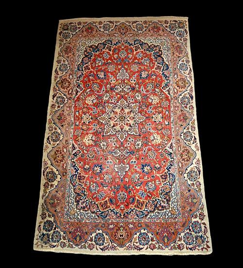 Tapis Ispahan ancien, Iran, 151 cm x 254 cm, laine Kork nouée main 1890/1900