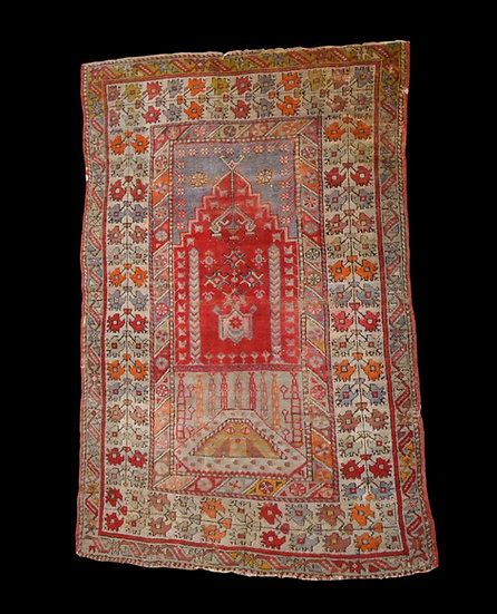 """Tapis Kirsehir ancien, Anatolie, Turquie, 102 cm x 153 cm, seconde moitié du XI"