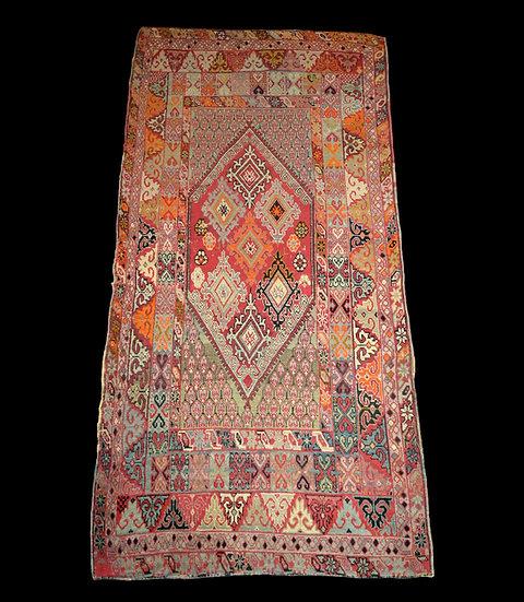 Tapis Zerbiya ancien, Rabat, Maroc, 142 x 290 cm, milieu du XIXème siècle