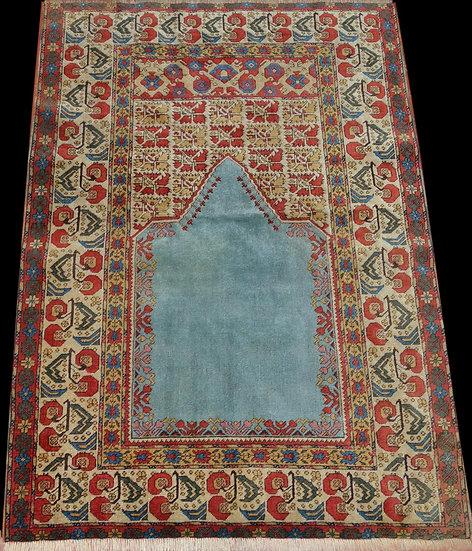 Tapis Panderma de prière ancien, 119 x 174 cm, Turquie, début du XXème siècle