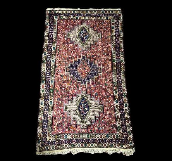 Kilim Soumak, Azerbaïdjan Iranien, 112 cm x 203 cm, noué main vers 1970