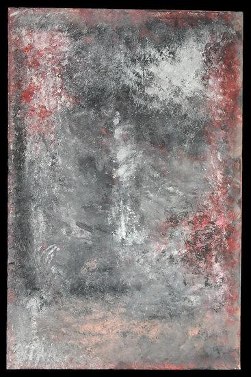"""Erwin STEINBACH """" Le réverbère """" Juin 2020, 115 x 75 cm"""