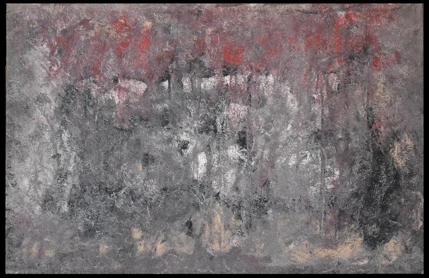 """Erwin STEINBACH """" Neige sur le Revest """" 75 x 125 cm"""