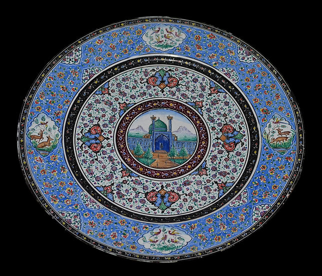 Minâkâri, assiette, Ispahan, Iran, Début du XXème Siècle, 1900/1920,
