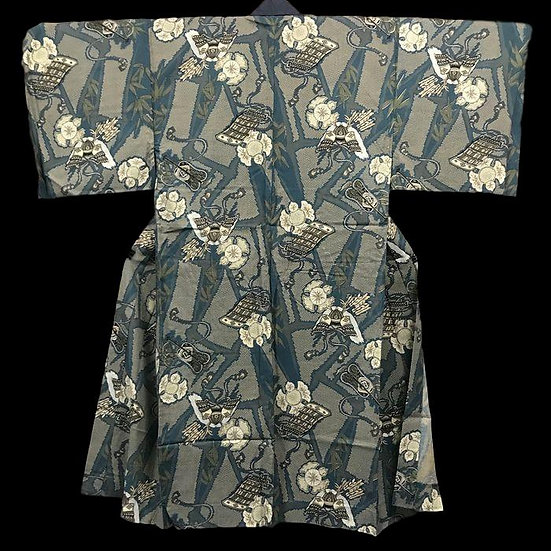 Kimono YUKATA Juban, en soie naturelle, Japon, vers 1960