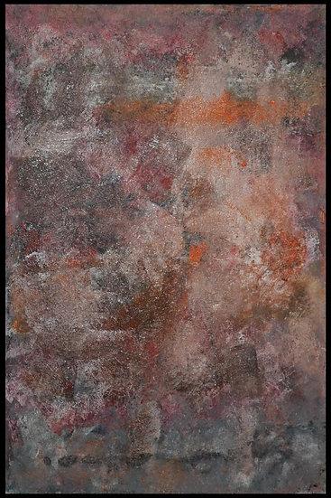 """Erwin STEINBACH """" Le village """" 115 cm x 75 cm - Aout 2020"""