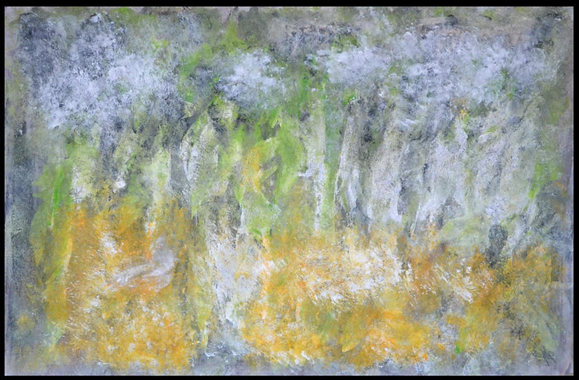 """Erwin STEINBACH, """" la friche """"  75 x 115 cm, 2019"""