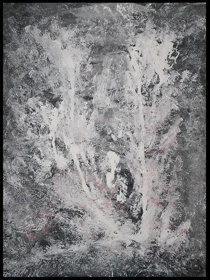 Erwin STEINBACH  » La naissance du monde  » 80 cm x 60, technique mixte sur toil