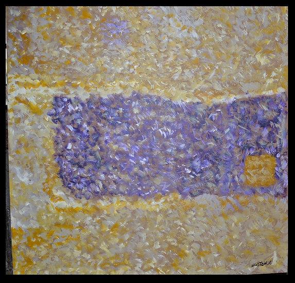 """Erwin STEINBACH , """" Carré de Lavandes """", 100 x 100 cm, 2018"""