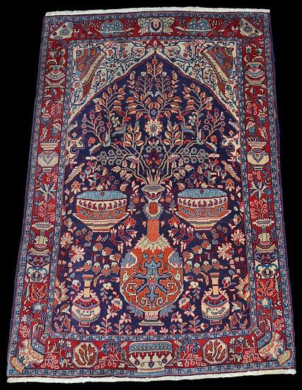 Tapis persan kashmar, Iran, noué main, 99 cm x 157 cm, vers 1940