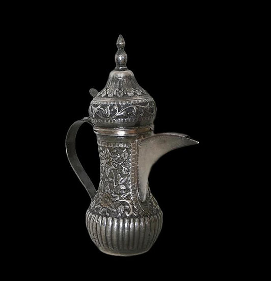 Cafetière Dallah, argent massif, Turkestan, fin du XIXème siècle