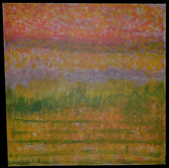 "Erwin STEINBACH,"" Pluie sur Lure  "" , 95 x 95 cm, 2018"